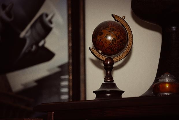 Small Antique Globe