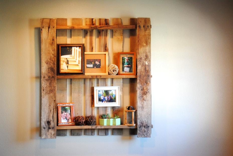 Pinterest projects pallet shelves sam allen creates for Pallet wall shelf