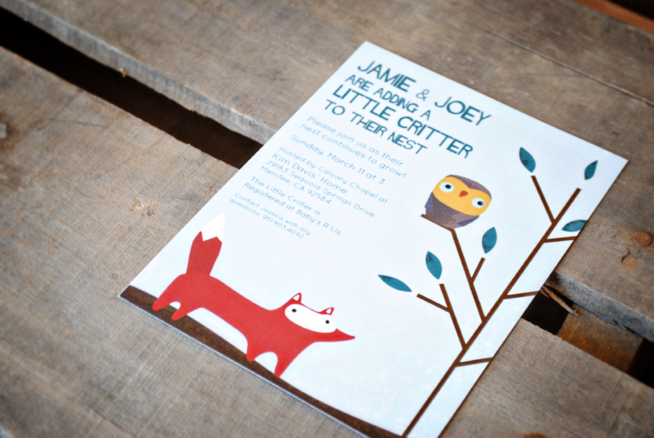 jamie s baby shower invitation woodland creatures creating for