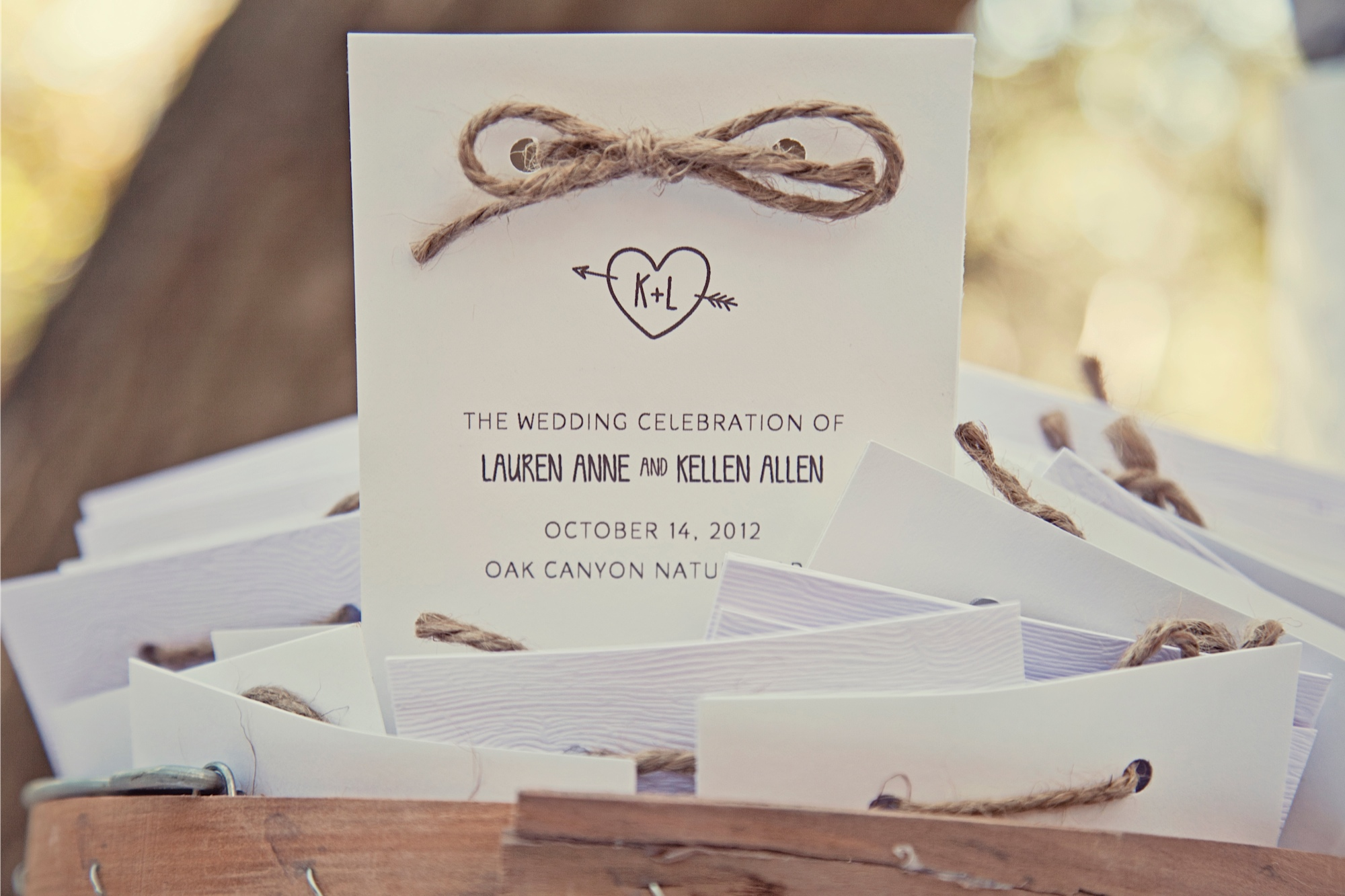 Lauren & Kellen\'s Outdoor Woodsy Wedding Invitations and Decor – Sam ...