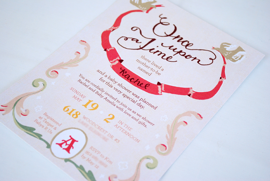 once upon a time rachel s fairytale baby shower invitations and