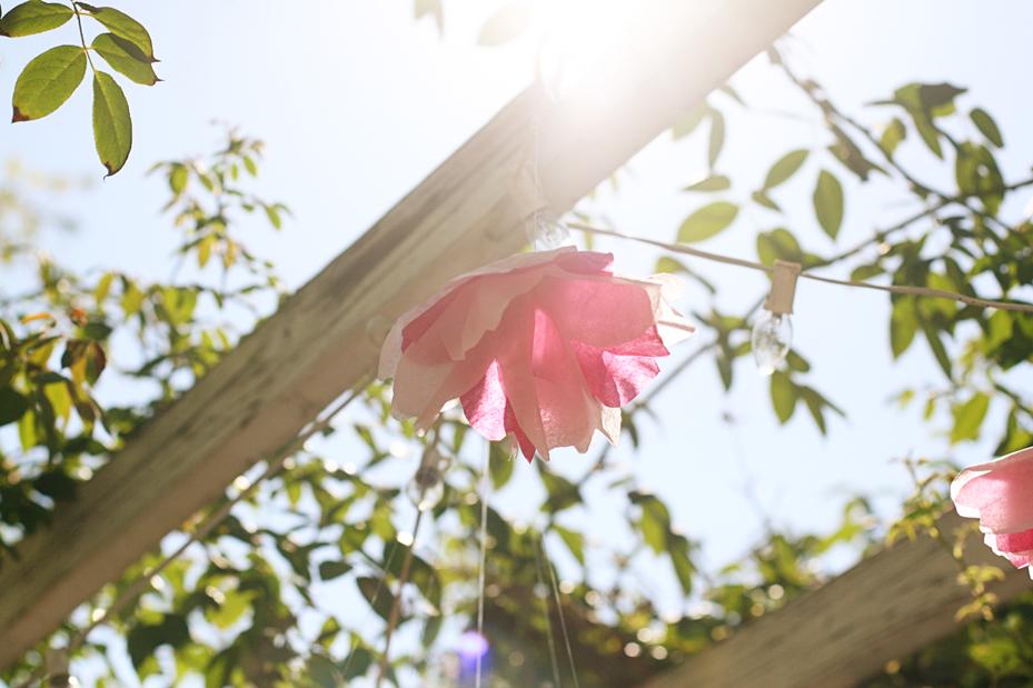 tissue paper cherry blossom tutorial