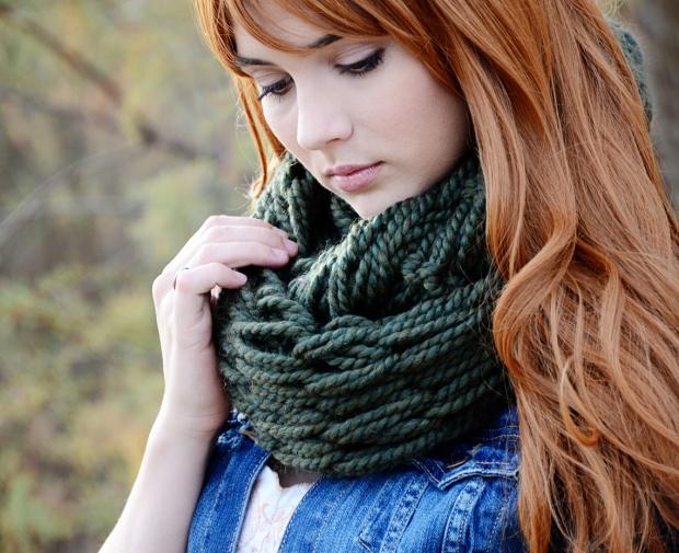 mama and mia scarf emerald women 01