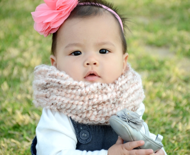 mama and mia scarf pink baby 43