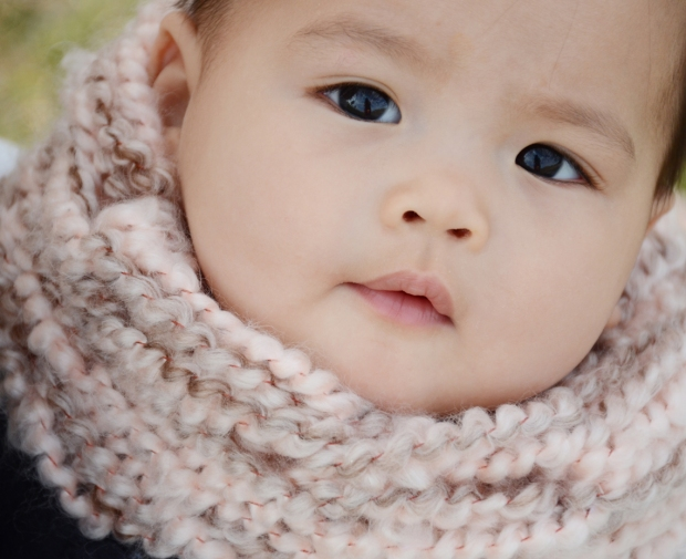mama and mia scarf pink baby 99