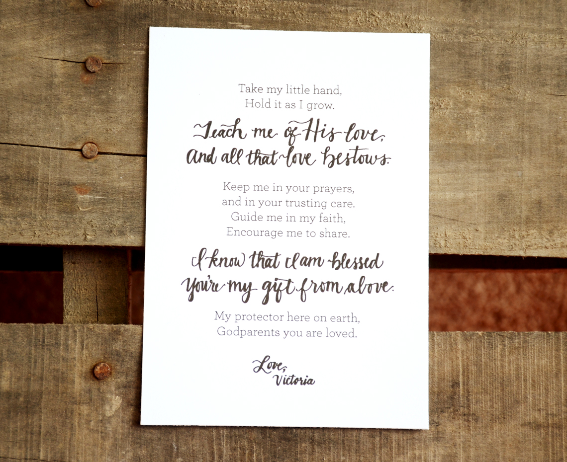 Godparent gift ideas etsy wedding