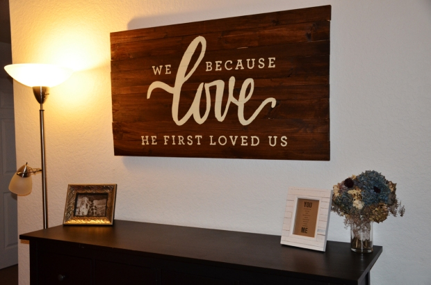 DIY Love wall art 40