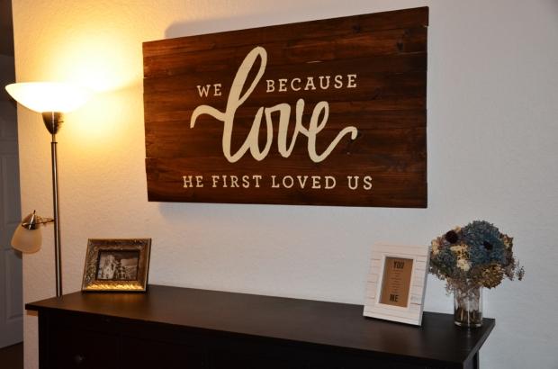 DIY Love wall art 40