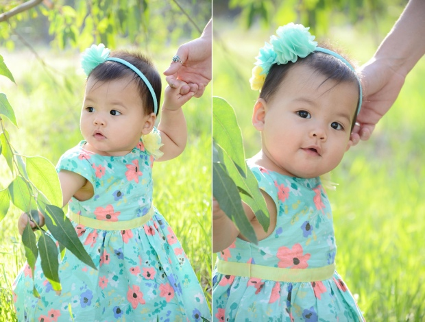 Outdoor Easter Dress Photos 9 Month Baby Photography_3005