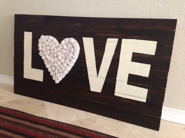 Trisha's LOVE wood art