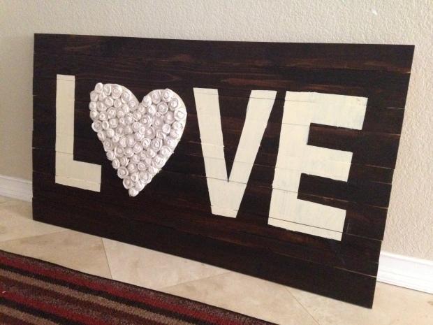 Trisha's LOVE wood art