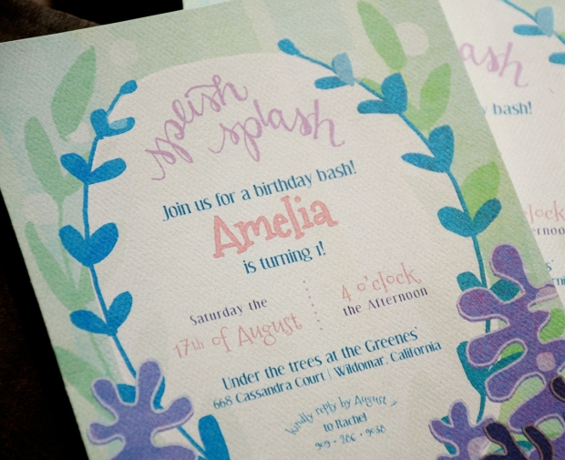 your new friend sam splish splash under the sea birthday invitation printable