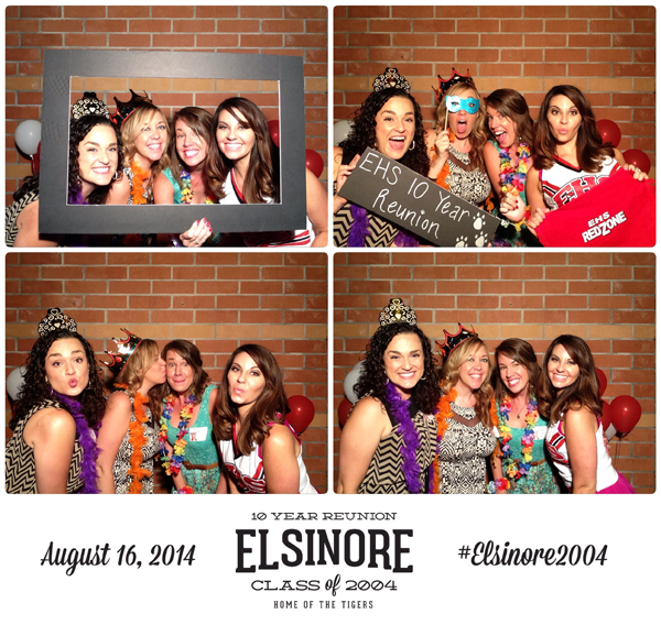 elsinore high 10 year reunion photo booth