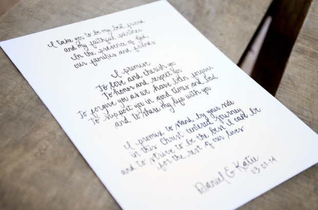 Your New Friend Sam Etsy Smiling Bubbly Handwritten Wedding Vows Daniel Katie 437