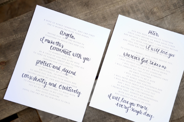 Your New Friend Sam Etsy Smiling Bubbly Handwritten Wedding Vows Peter Angela 449