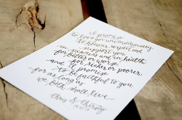 Your New Friend Sam Etsy Whimsical Handwritten Wedding Vows Chris Chirsty 121