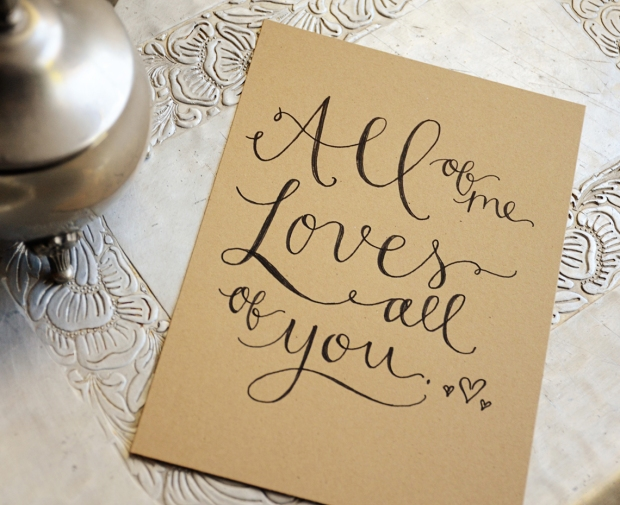 Your New Friend Sam Handwritten Vows Kraft Print 972