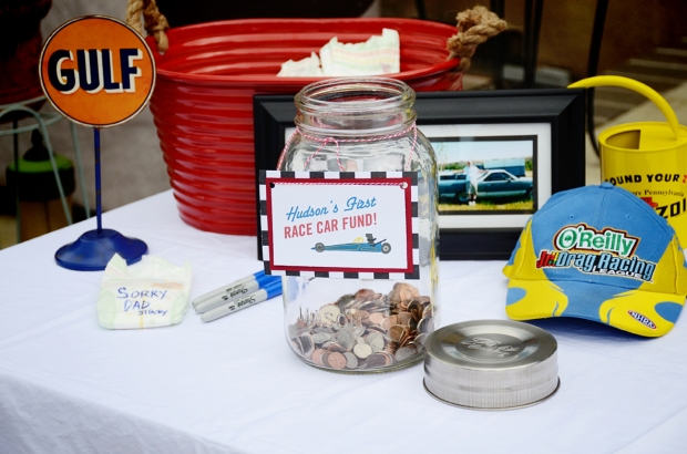 car themed shower party first car fund