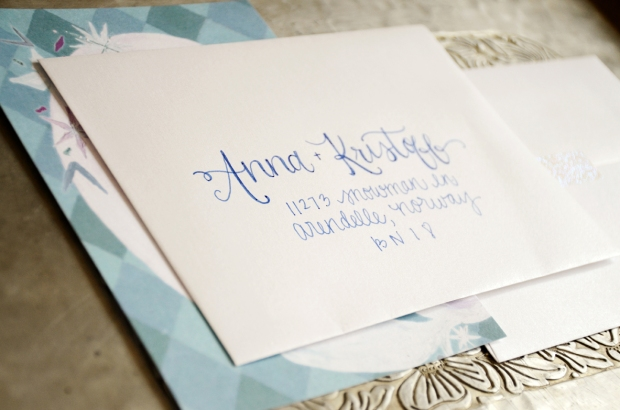 Frozen Inspired Birthday Invitation Envelope Addressing from Your New Friend Sam on Etsy 490