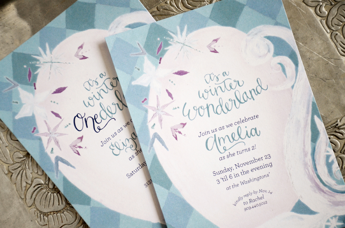 first birthday invitation – Sam Allen Creates
