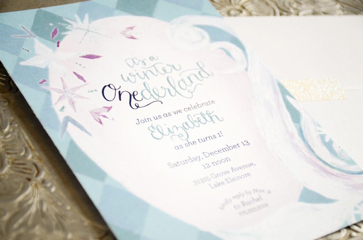 first birthday invitation – Sam Allen Creates