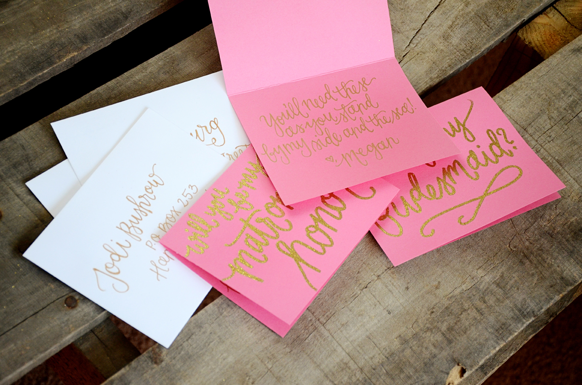 Bridesmaid Bridal Party Invitations by Your New Friend Sam – Pink ...