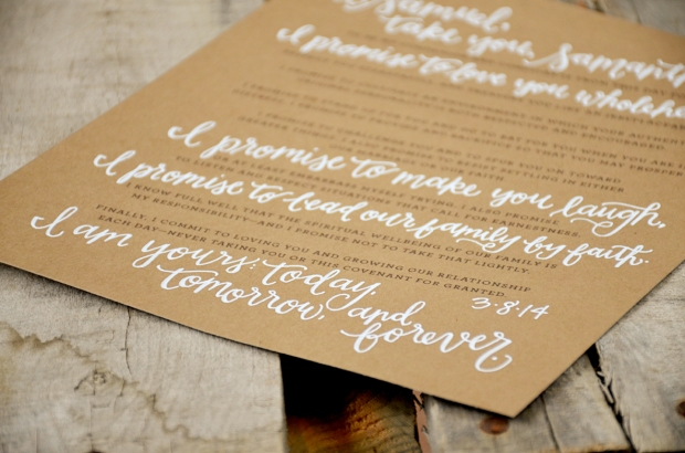 Your New Friend Sam Wedding Vows Keepsake Detail 2