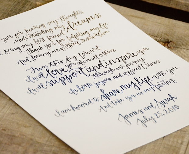 Your New Friend Sam, Wedding Vows Keepsake for Sarah
