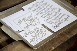 Godmother Invitations by Your New Friend Sam - White Cardstock with Silver Embossing and Printed Poem 4
