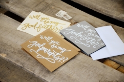 Godparent Invitations by Your New Friend Sam - Variety