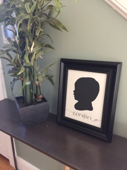 Your New Friend Sam Papercut Camden Framed at Home