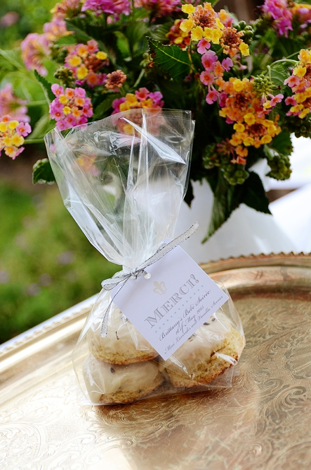 french country baby shower bebe soiree au revoir scone favors 1