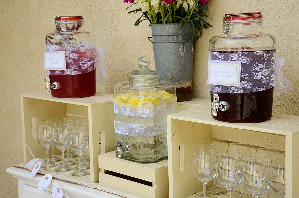 French country baby shower bebe soiree drink station 2