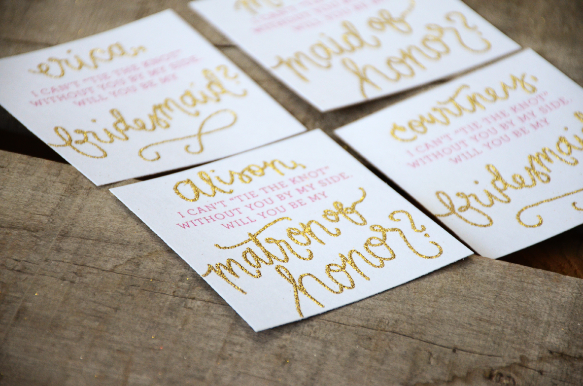 Bridal Party Greeting Cards and Bridesmaid Invitations Sam Allen