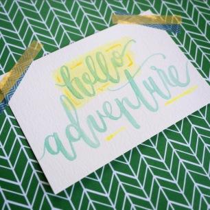 Hello Adventure LetterItJuly samallencreates