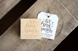 Let Love Sparkle Rubber Stamp from Your New Friend Sam