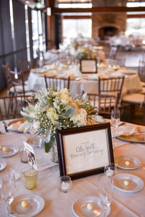 Heather Elise Photography crossings at carlsbad tablescape lettering for centerpieces by Sam Allen Creates