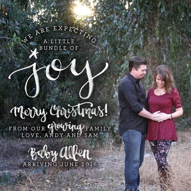Allen Pregnancy Announcement Christmas Joy