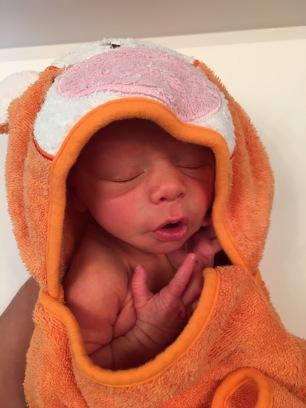Isaiah First bath