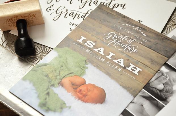 Isaiahs Birth Announcement Front