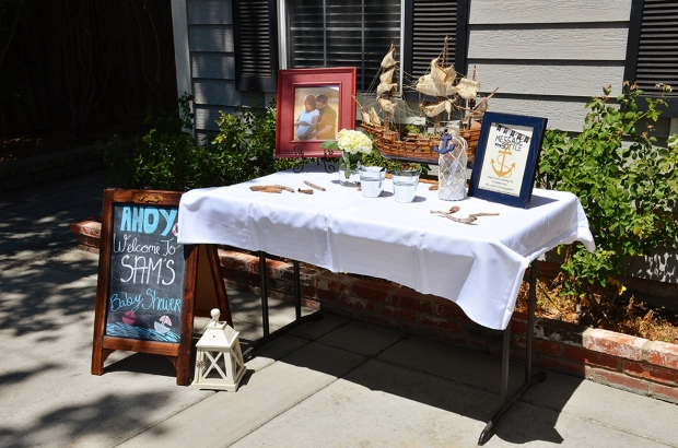 Sams Nautical Baby Shower Entrance