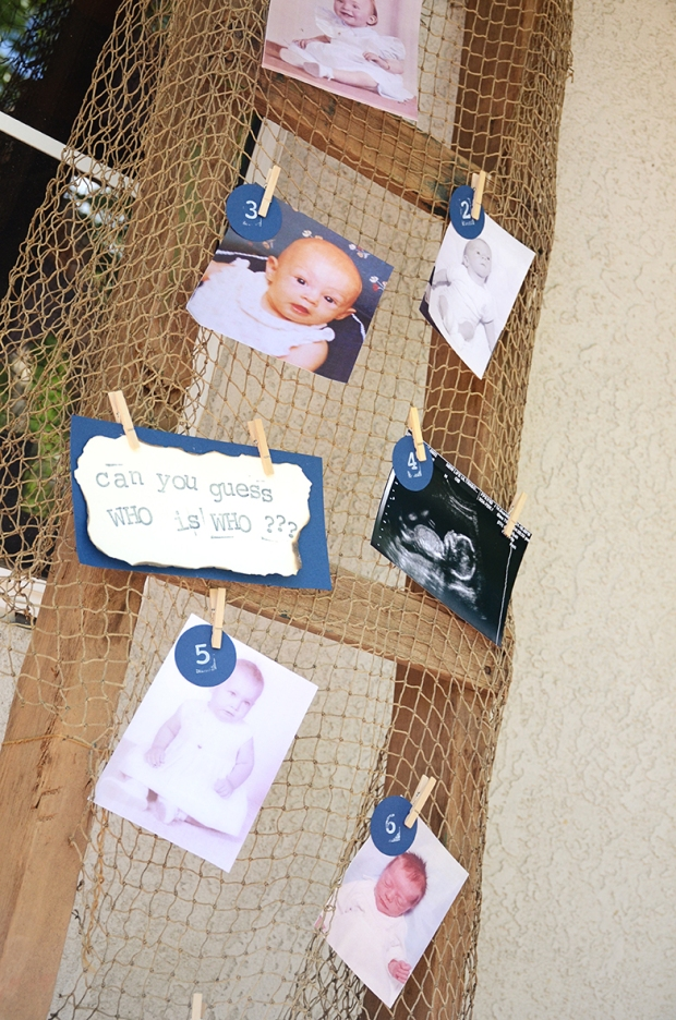 Sams Nautical Baby Shower Game Who is Who