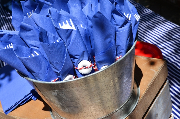 Sams Nautical Baby Shower Plasticware