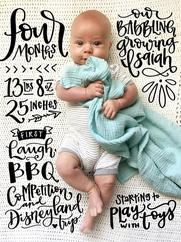 sam-allen-creates-handlettered-isaiah-baby-four-months