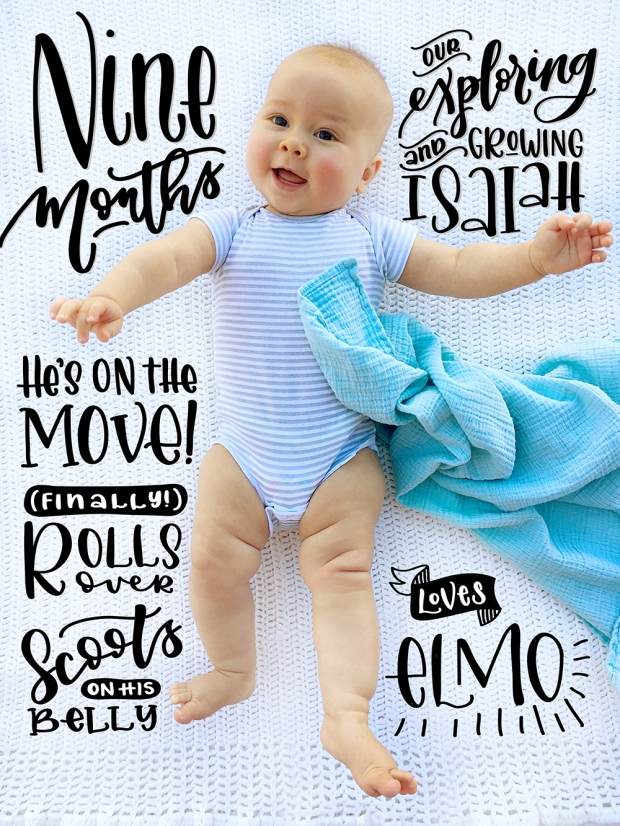 Sam Allen Creates Handlettered Isaiah Baby Nine Months