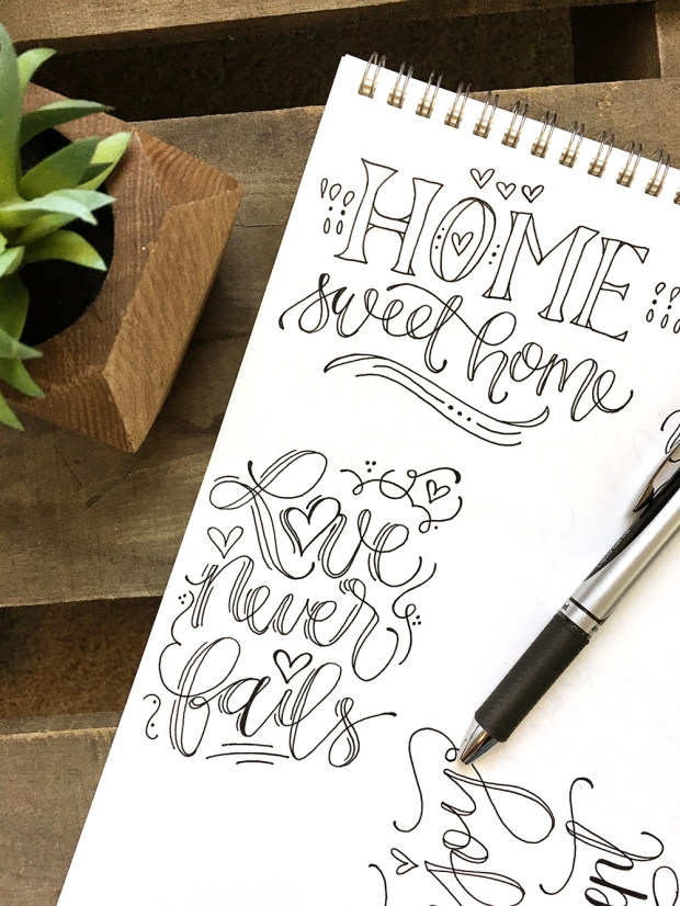Sam Allen Creates Home Sweet Home and Love Never Fails sketches