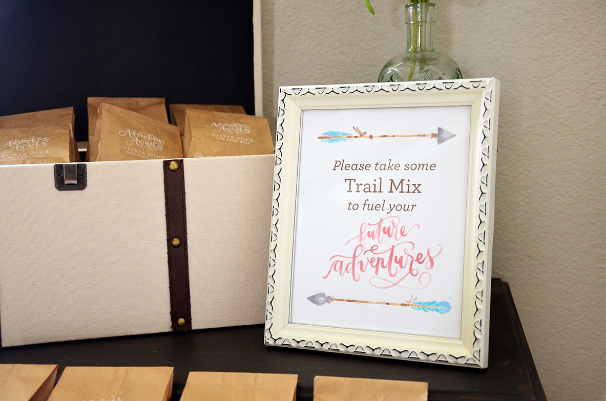 Shabby Chic Tribal Baby Shower Trail Mix Favors Sign – Sam Allen Creates
