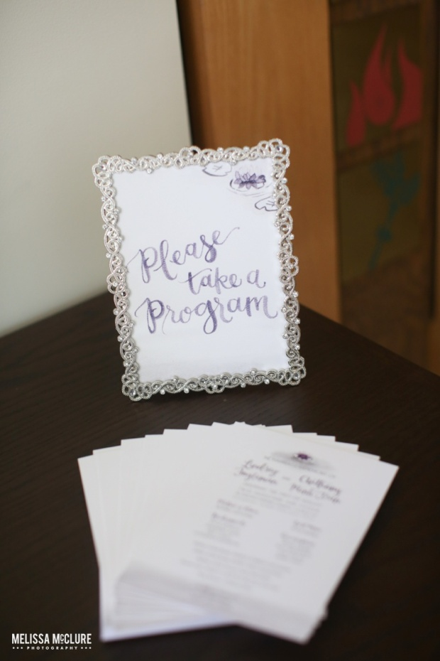 Sam Allen Creates Watercolor Wedding Programs - Photo by Melissa McClure 5