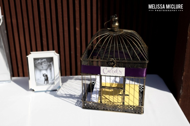 Sam Allen Creates Watercolor Wedding Reception Cards Birdcage - Photo by Melissa McClure