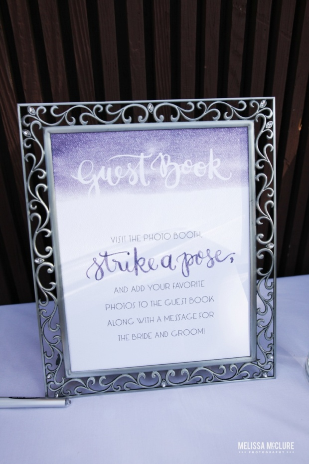 Sam Allen Creates Watercolor Wedding Reception Guest Book Sign - Photo by Melissa McClure
